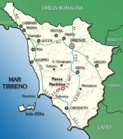 Costa Tirrenica Toscana Cartina.La Toscana Il Mulino
