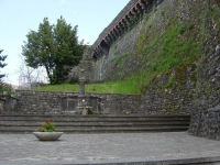 The stone fountain, On the right there is the Fortress