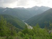 Panorama: Vagli´s Lake and valley.