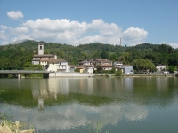 Pontecosi: the village, the church, bell tower.
